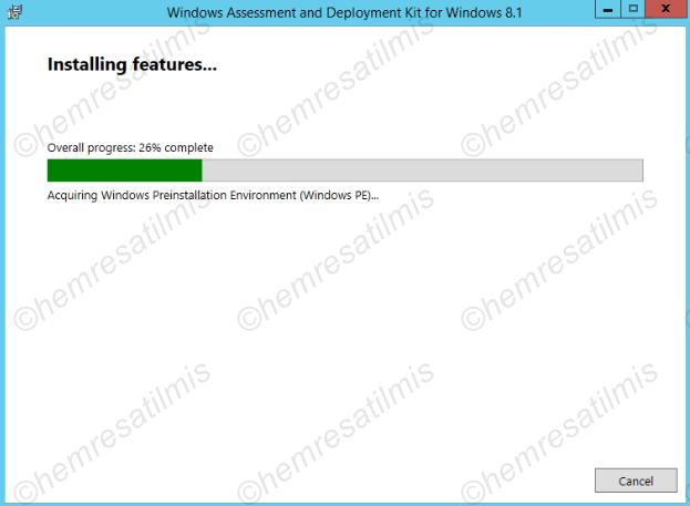 2.3.2-5 Windows ADK 8.1 Kurulumu