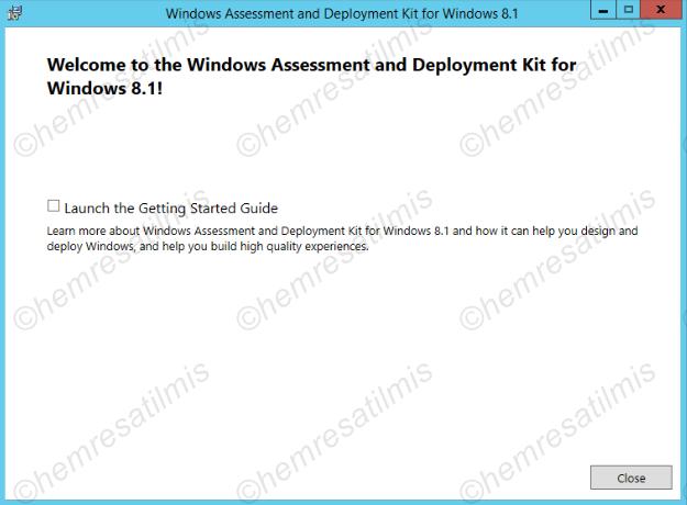 2.3.2-6 Windows ADK 8.1 Kurulumu