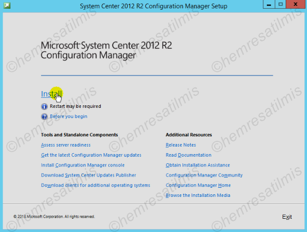 2.4.-02 System Center Configuration Manager Kurulumu