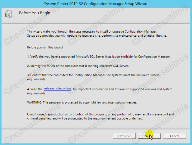 2.4.-03 System Center Configuration Manager Kurulumu