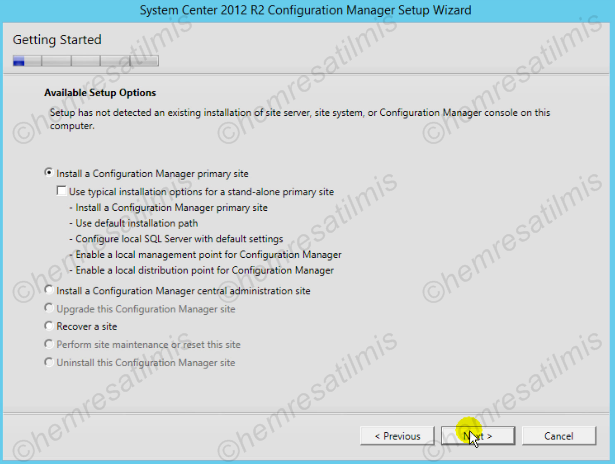 2.4.-04 System Center Configuration Manager Kurulumu