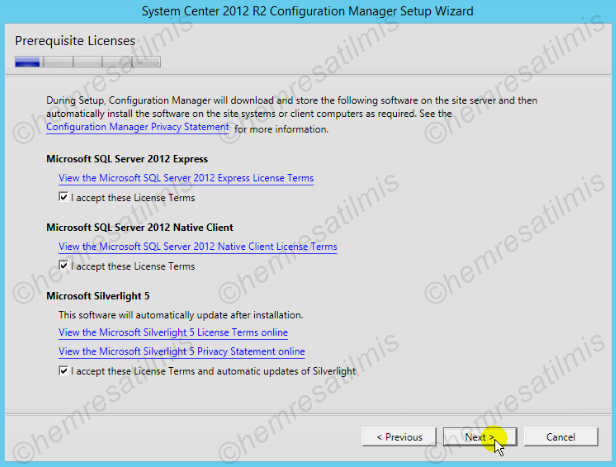 2.4.-07 System Center Configuration Manager Kurulumu