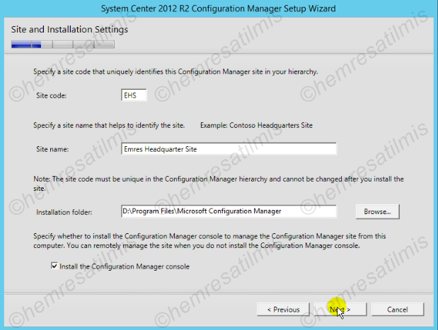2.4.-12 System Center Configuration Manager Kurulumu