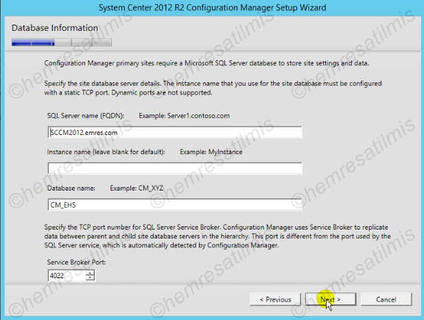 2.4.-15 System Center Configuration Manager Kurulumu