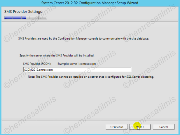 2.4.-17 System Center Configuration Manager Kurulumu
