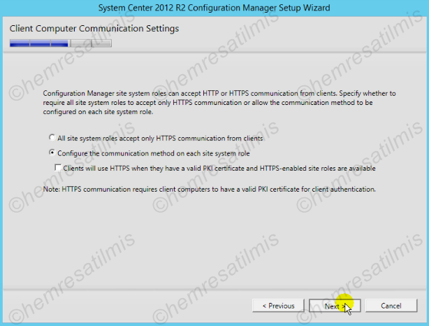 2.4.-18 System Center Configuration Manager Kurulumu