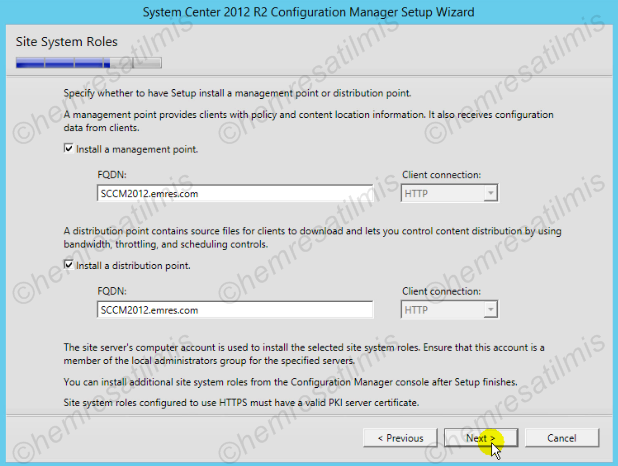 2.4.-19 System Center Configuration Manager Kurulumu