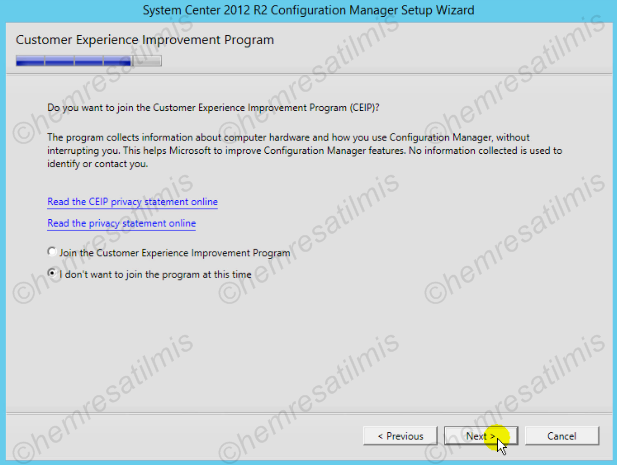 2.4.-20 System Center Configuration Manager Kurulumu