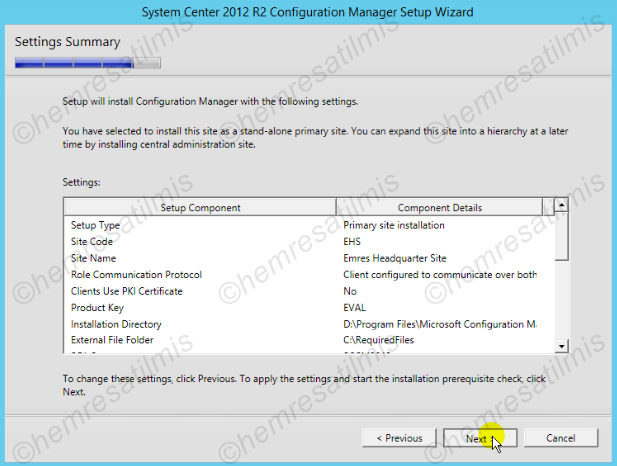 2.4.-21 System Center Configuration Manager Kurulumu