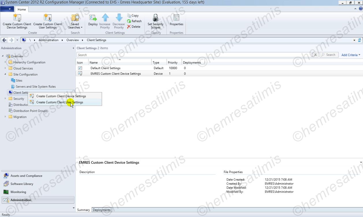 3.4.2.-01 Custom Client User Settings Oluşturmak