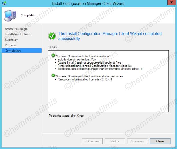 3.5.3.-04 Domain Controller'lara Client Kurulumu (Client Push Wizard Yöntemi)