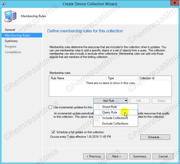 3.6.2.-03 Device Collection ve User Collection Oluşturulması