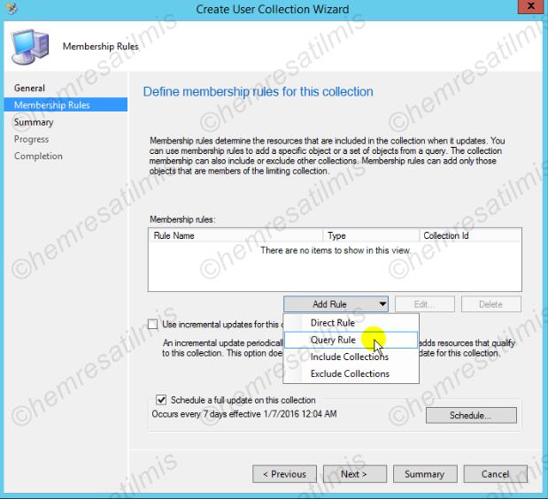 3.6.2.-16 Device Collection ve User Collection Oluşturulması