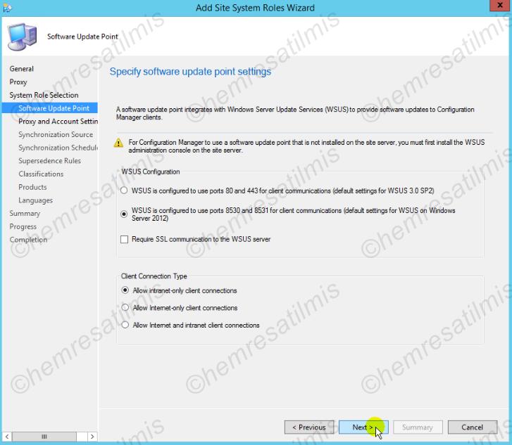 4.-03 SCCM 2012'de Yazılım Güncelleme Dağıtımı (Software Update Deployment)