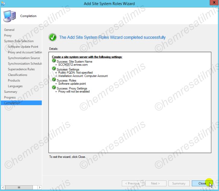 4.-11 SCCM 2012'de Yazılım Güncelleme Dağıtımı (Software Update Deployment)