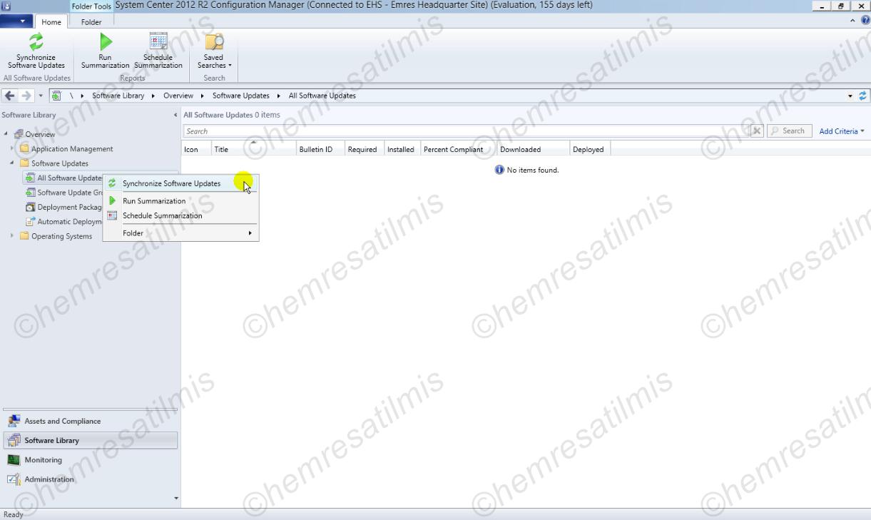 4.-12 SCCM 2012'de Yazılım Güncelleme Dağıtımı (Software Update Deployment)