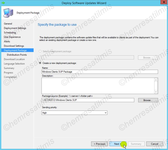 4.-22 SCCM 2012'de Yazılım Güncelleme Dağıtımı (Software Update Deployment)