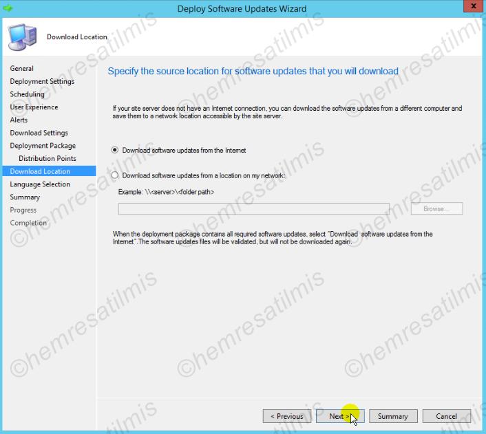 4.-24 SCCM 2012'de Yazılım Güncelleme Dağıtımı (Software Update Deployment)