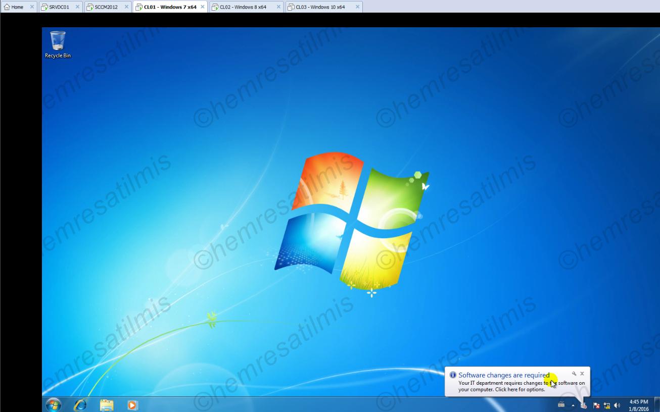 4.-27 SCCM 2012'de Yazılım Güncelleme Dağıtımı (Software Update Deployment)