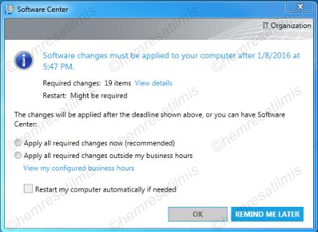 4.-28 SCCM 2012'de Yazılım Güncelleme Dağıtımı (Software Update Deployment)