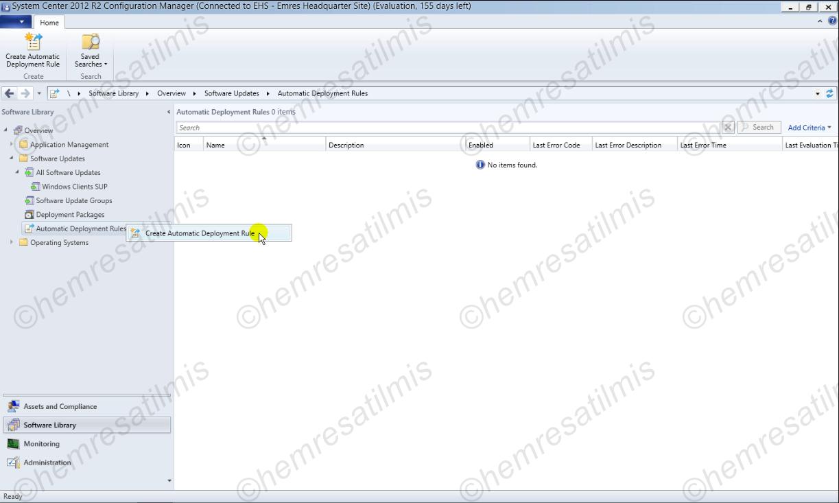 4.-29 SCCM 2012'de Yazılım Güncelleme Dağıtımı (Software Update Deployment)