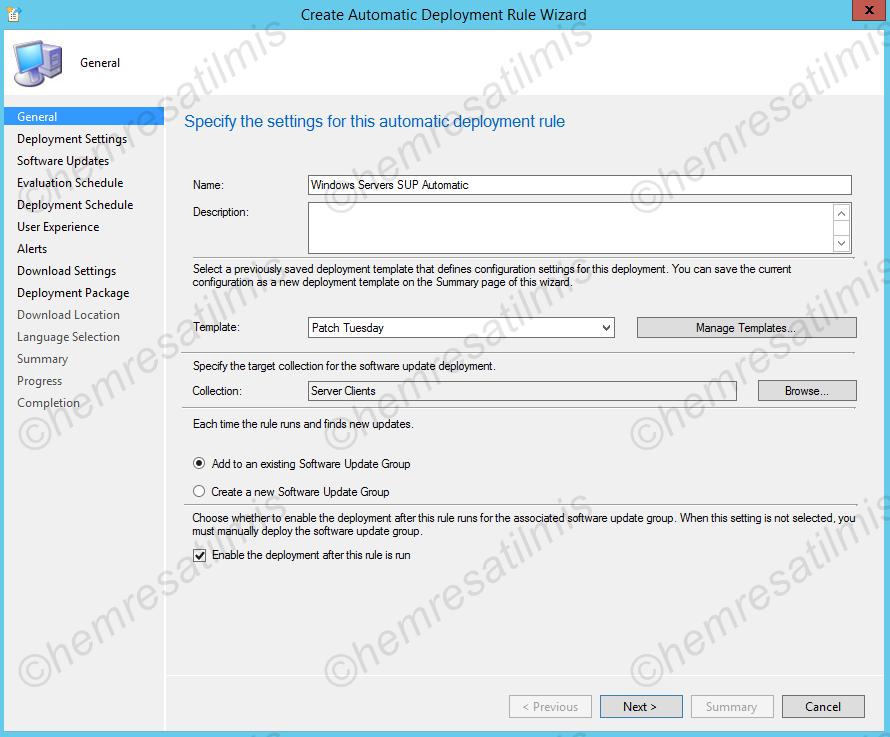 4.-30 SCCM 2012'de Yazılım Güncelleme Dağıtımı (Software Update Deployment)