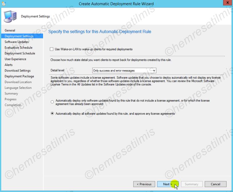 4.-31 SCCM 2012'de Yazılım Güncelleme Dağıtımı (Software Update Deployment)