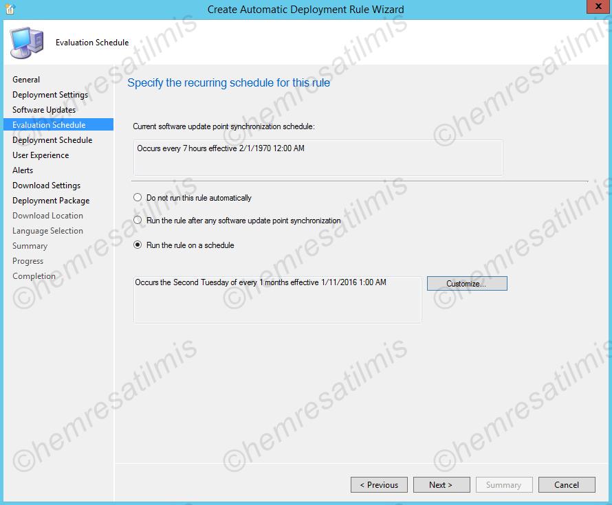 4.-33 SCCM 2012'de Yazılım Güncelleme Dağıtımı (Software Update Deployment)