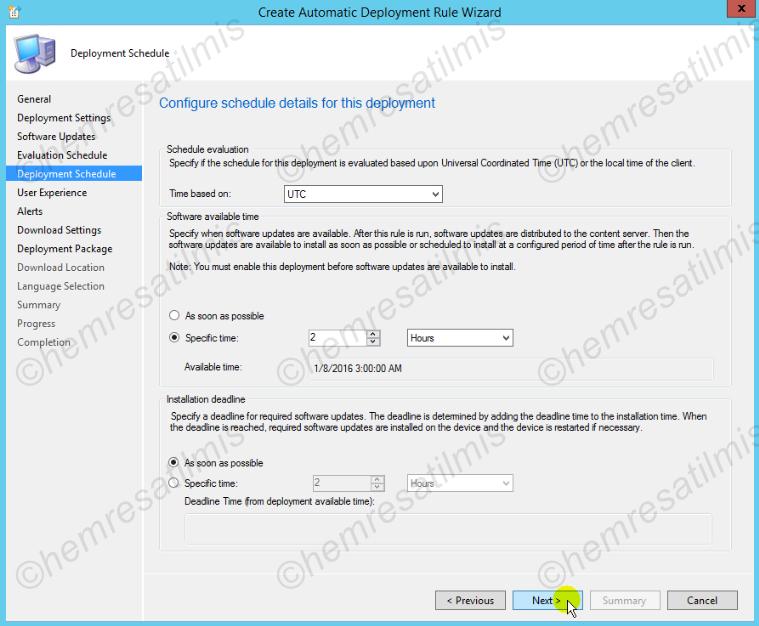 4.-34 SCCM 2012'de Yazılım Güncelleme Dağıtımı (Software Update Deployment)