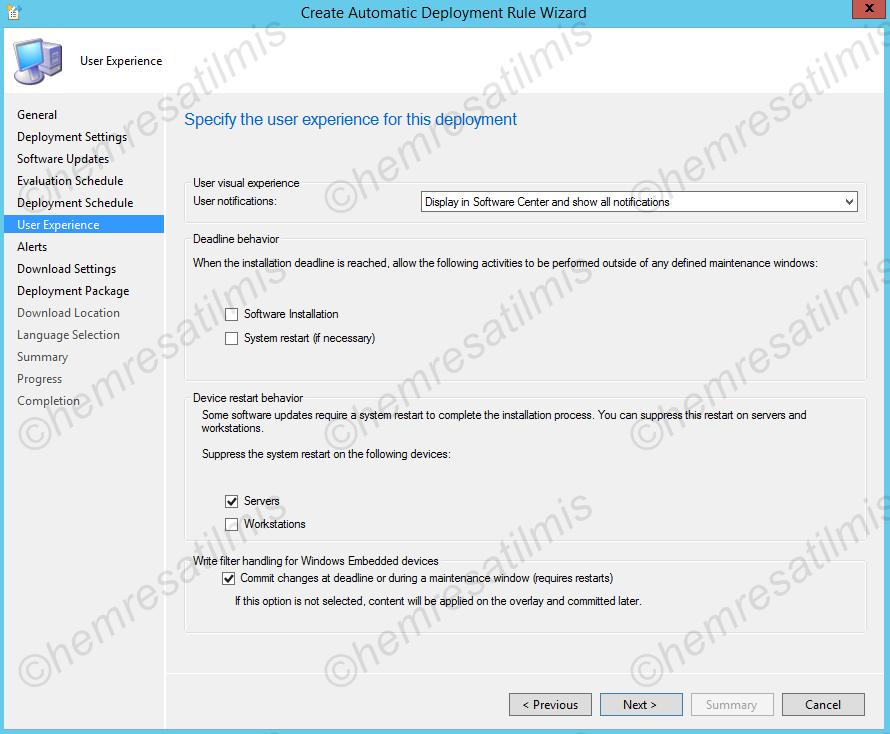 4.-35 SCCM 2012'de Yazılım Güncelleme Dağıtımı (Software Update Deployment)