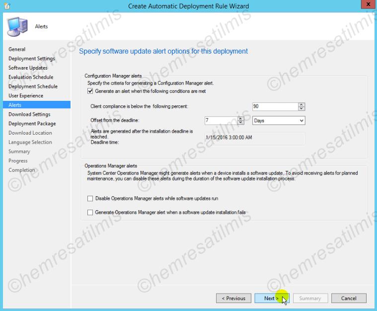 4.-36 SCCM 2012'de Yazılım Güncelleme Dağıtımı (Software Update Deployment)