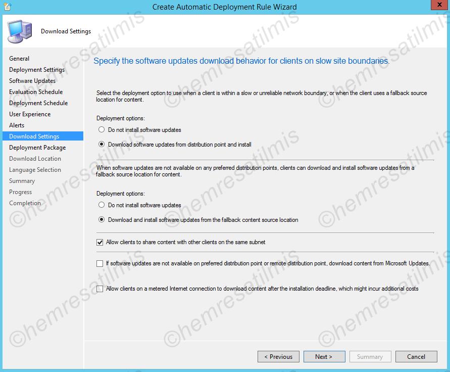 4.-37 SCCM 2012'de Yazılım Güncelleme Dağıtımı (Software Update Deployment)
