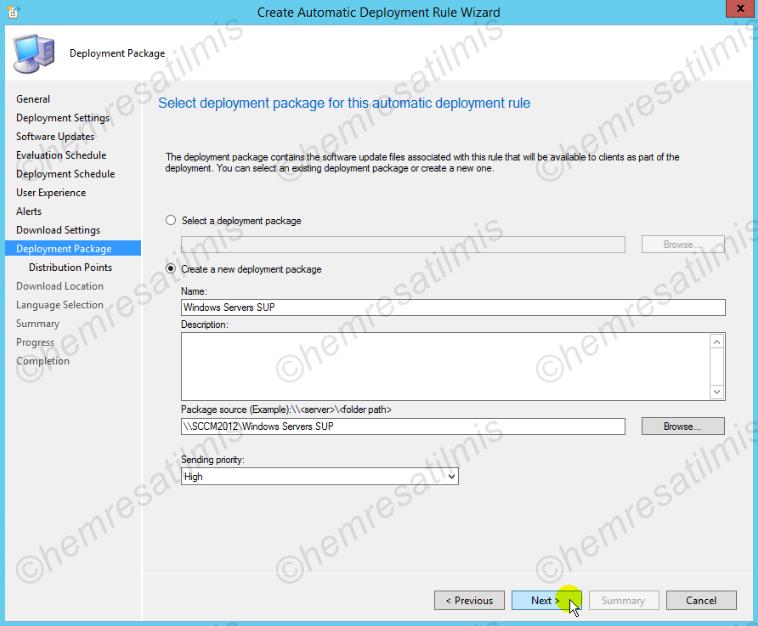 4.-38 SCCM 2012'de Yazılım Güncelleme Dağıtımı (Software Update Deployment)