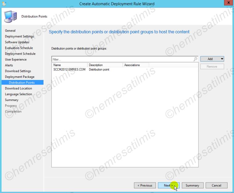 4.-39 SCCM 2012'de Yazılım Güncelleme Dağıtımı (Software Update Deployment)