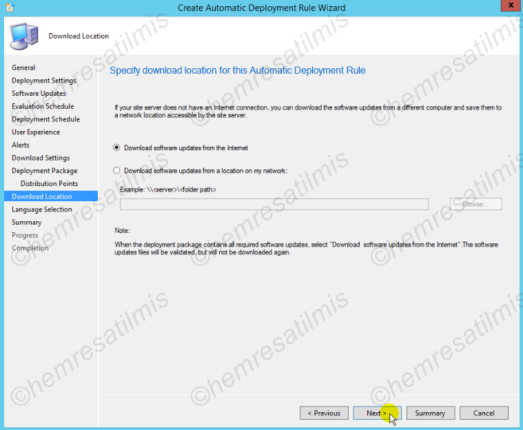 4.-40 SCCM 2012'de Yazılım Güncelleme Dağıtımı (Software Update Deployment)