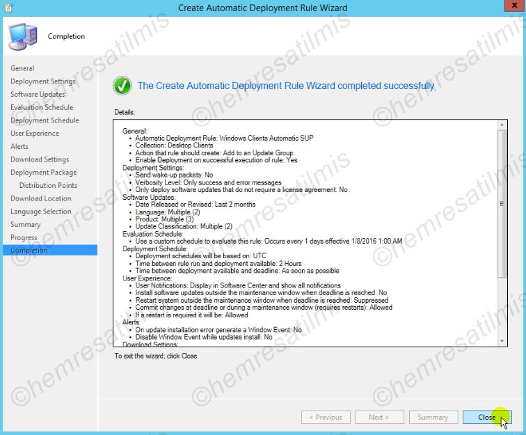 4.-42 SCCM 2012'de Yazılım Güncelleme Dağıtımı (Software Update Deployment)