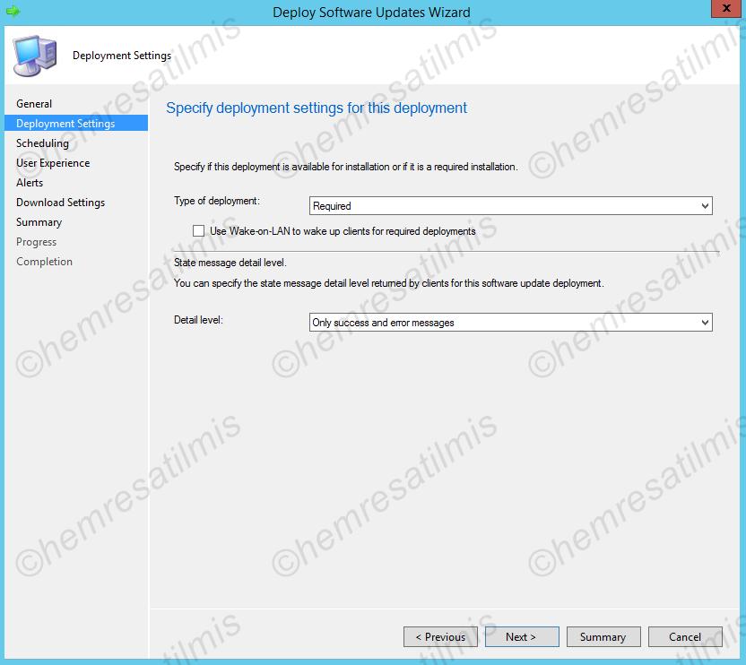 4.-43 SCCM 2012'de Yazılım Güncelleme Dağıtımı (Software Update Deployment)
