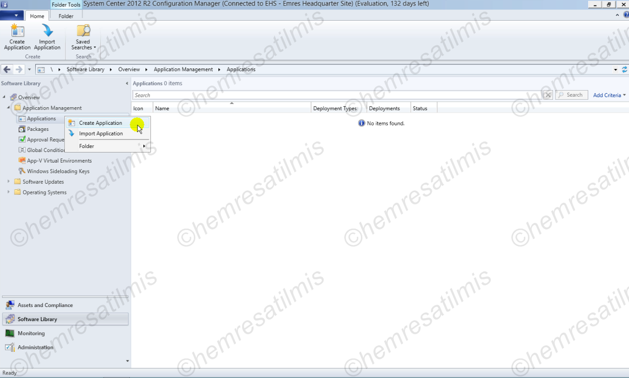 5.2.-01 SCCM 2012 İle Uygulama'nın Hazırlanması