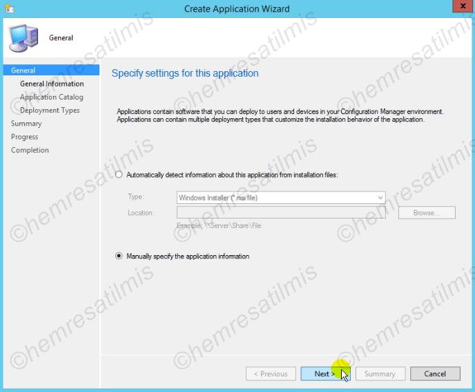 5.2.-02 SCCM 2012 İle Uygulama'nın Hazırlanması