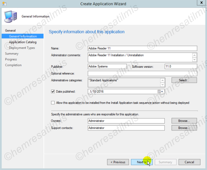 5.2.-03 SCCM 2012 İle Uygulama'nın Hazırlanması