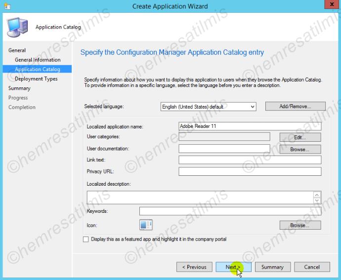 5.2.-04 SCCM 2012 İle Uygulama'nın Hazırlanması