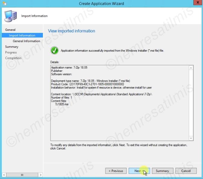 SCCM msi Uygulama Dağıtımı - 05