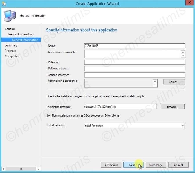 SCCM msi Uygulama Dağıtımı - 06