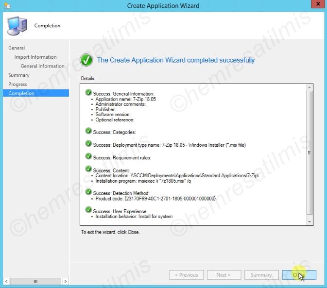 SCCM msi Uygulama Dağıtımı - 09