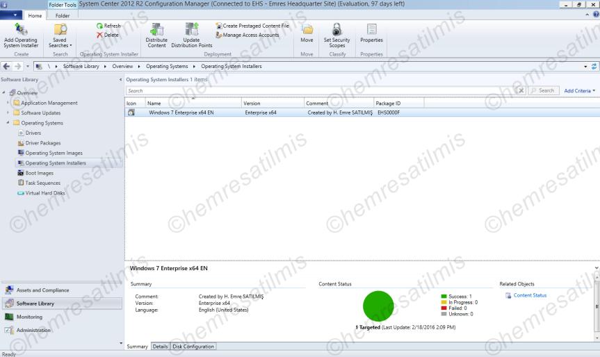 SCCM 2012'de İşletim Sistemi Dağıtımı (OSDeployment)