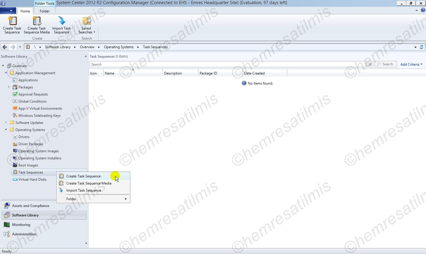 6.8. -01 İşletim Sistemi Kurulumu İçin Görev (Task) Oluşturulması