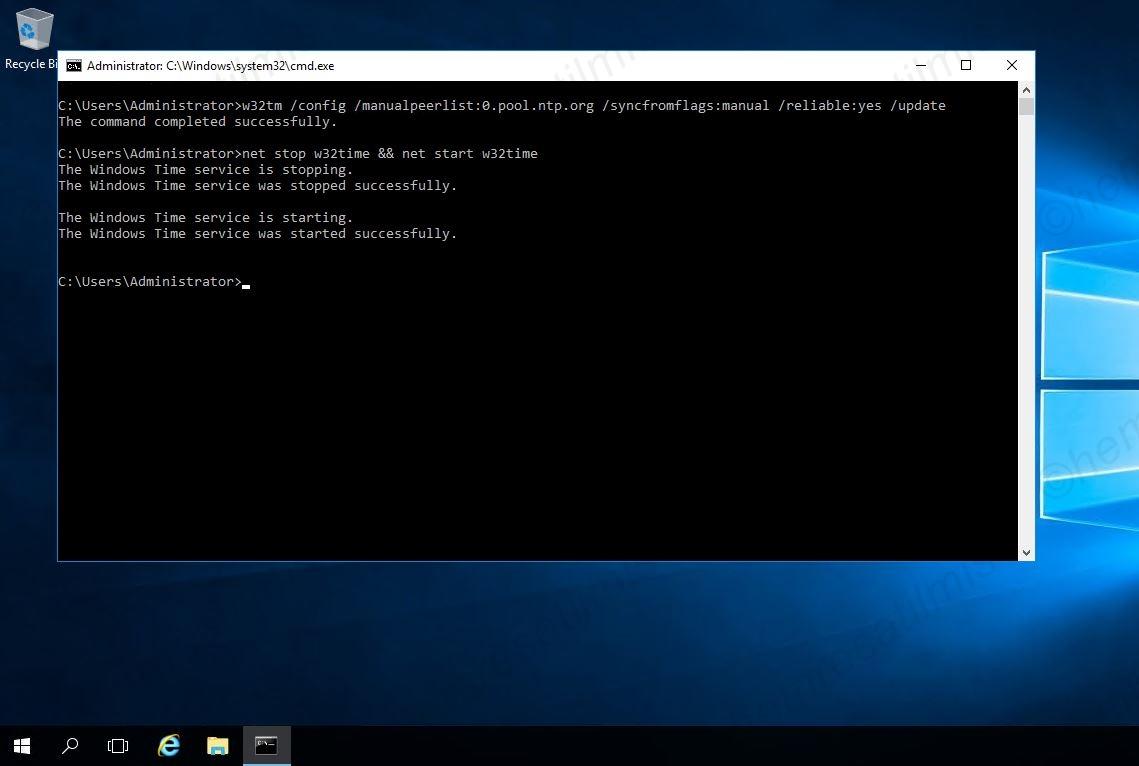 Active Directory Zaman Senkronizasyonu-02