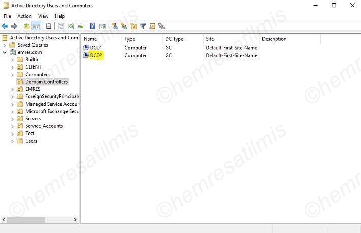 Additional Domain Controller (ADC)Kurulumu