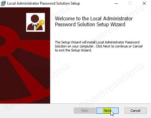 Local Administrator Password Solution (LAPS)Kurulumu